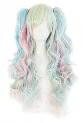 Парик Лолита разноцветный леденец