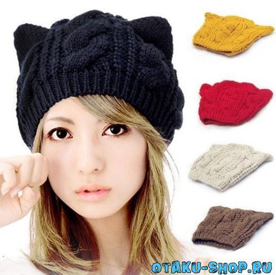 купить вязаная шапка с ушками в аниме магазине с бесплатной доставкой