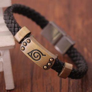 Кожаный браслет Наруто