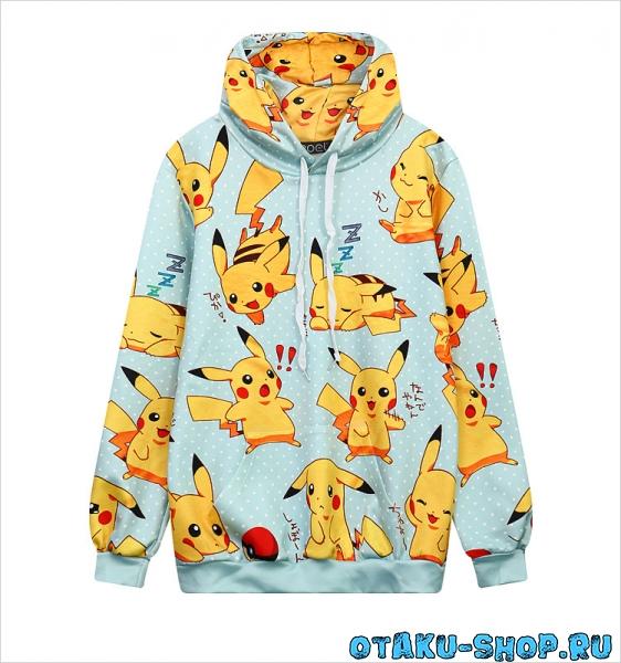 Купить Толстовка с Пикачу Pokemon в аниме магазине с бесплатной ... 6d1ac81dbfa9e
