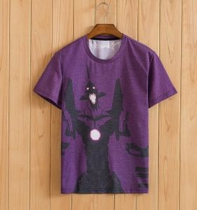 Фиолетовая футболка Evangelion