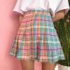 дополнительные фото Клетчатая разноцветная юбка