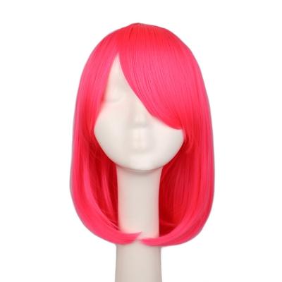 Розовый прямой парик