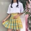 дополнительные фото Школьная клетчатая жёлтая юбка