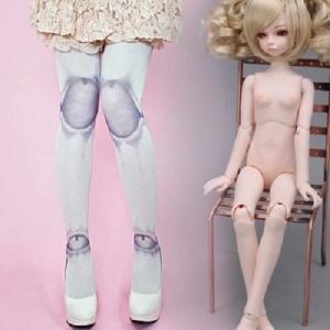 Кукольные колготки белые