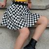 дополнительные фото Клетчатая юбка чёрно-белая