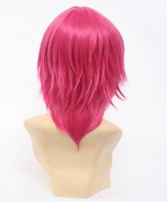 Короткий розовый парик Нет игры, нет жизни