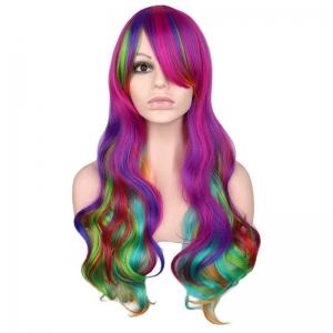 Красочный косплей парик