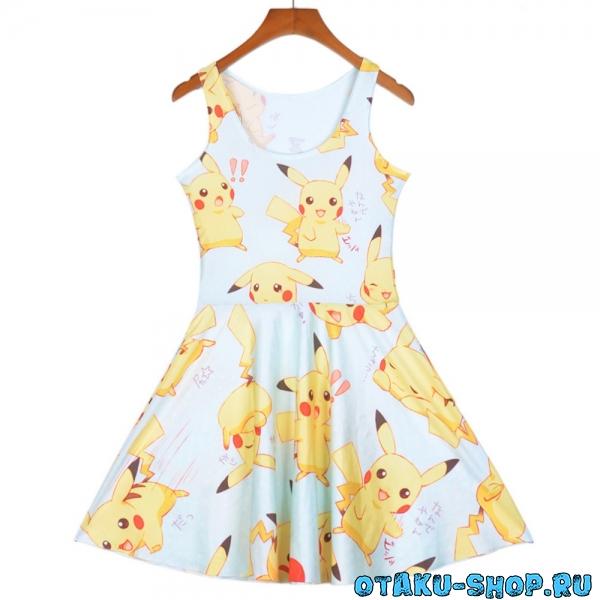 Купить Платье с Пикачу в аниме магазине с бесплатной доставкой 8bae68d1a8946