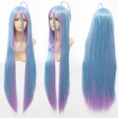 """100см голубой парик """"Нет игры, нет жизни"""""""