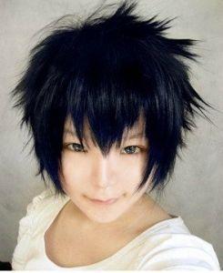 Темно-синий короткий парик Рин Окумура