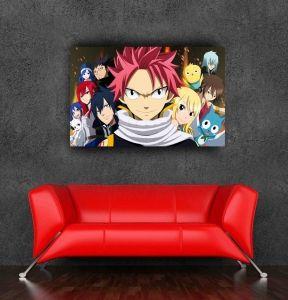 Постер с героями аниме «Хвост Феи».