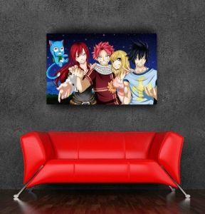 Постер с командой Нацу из аниме «Хвост Феи».
