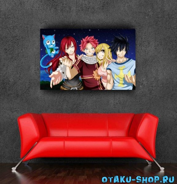 Купить Постер с командой Нацу из аниме «Хвост Феи». в ...