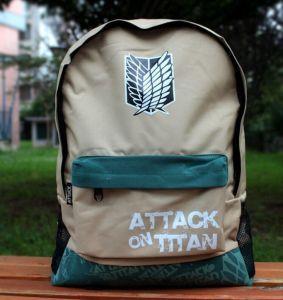 Бежевый рюкзак Attack on Titan