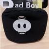 дополнительные фото Черные повязки на лицо с принтом